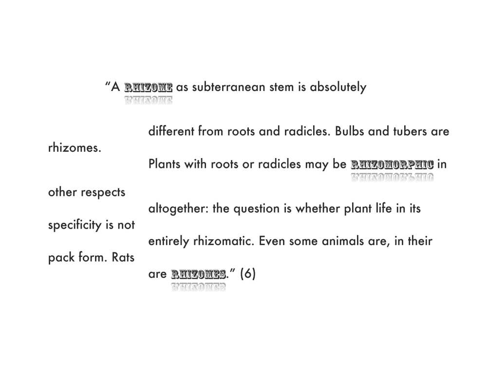 Becoming Rhizomatic? (1/2)