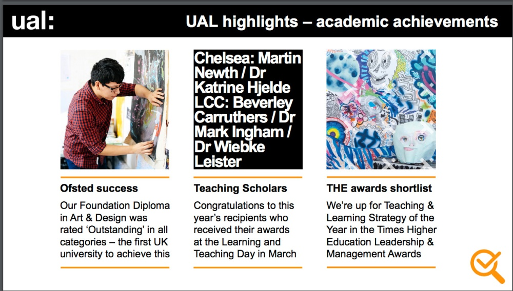 UAL Hightlights Academic Achievments